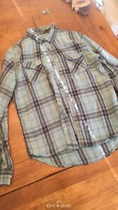 2 EUC Medium plaid shirts.