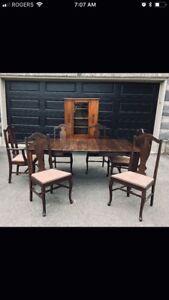 Antique dining set