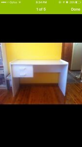 White study desk Georges Hall Bankstown Area Preview