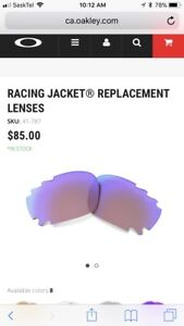 Oakley G30 lenses for Racing Jacket and Jawbone