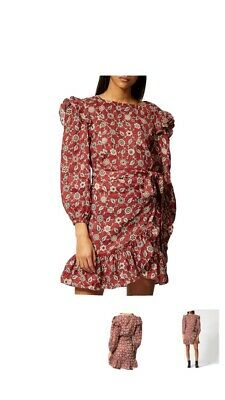 Isabel Marant Red Dress Size Fr 40 Rrp 385£ Bought From Harvey Nichols