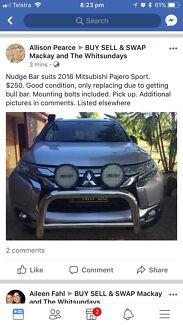 Pajero Sport Nudge Bar