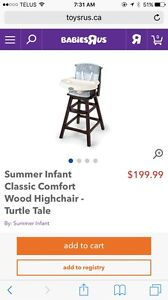 High Chair (basically brand new)