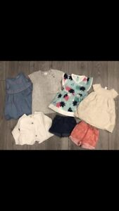 Girls size 6-12 months Clothing - 7 pieces in total
