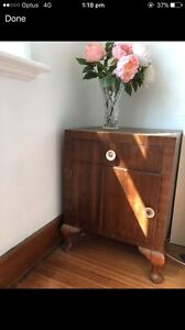 Two timber bedside tables garage moving out clearance sale Coburg Moreland Area Preview