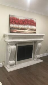 Fireplace surrounds cast stone
