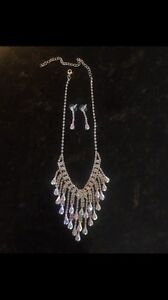 Statement Necklace and Matching Earring Set