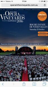 Opera in the vineyards Roche estate 8th October 2016 Newcastle Newcastle Area Preview