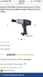 Brand new bosch impact wrench bare tool