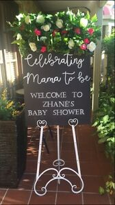CHEAP flower wall, backdrops & personalised chalkboards Glenmore Park Penrith Area Preview