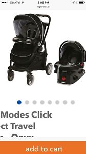 Graco mode click connect travel system- onyx