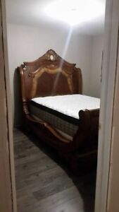 Like New Bedroom Suite - Queen Bed, Night Tables & Storage Bench