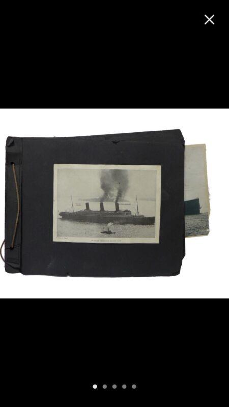 Antique Ocean Liner Scrapbook