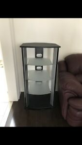 Entertainment unit - colour Black with 4 tiers