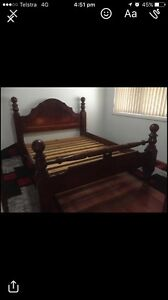 Wooden queen size bed and matress Liverpool Liverpool Area Preview