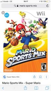 looking for mario sports mix , and wii sports cd