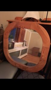 Wooden-framed Mirror