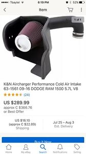 Used K&N rechargeable cold air intake