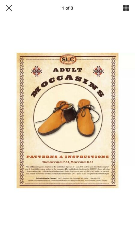 Springfield Leather Co Adult Moccasins Pattern Pack