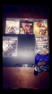 Ps3 with two controllers and games