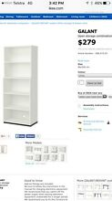 IKEA white Galant office storage shelves Lane Cove Lane Cove Area Preview