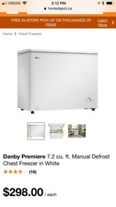 Chest Freezer Danby Premiere 7.2 Cu Ft