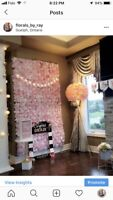 STUNNING Flower Wall For Rent
