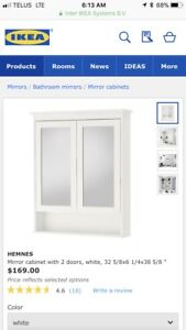 IKEA Hemnes bathroom mirror cabinet