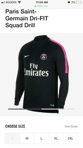 Psg neuf brand new authentic squad drill