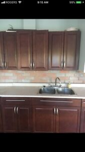 Full kitchen set. All solid wood clean and in very good