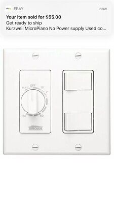 Broan 62w 60-minute Timer With 2-rocker Switches Time Control 2-gang Box White