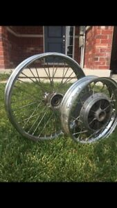 Spoked motorcycle wheels