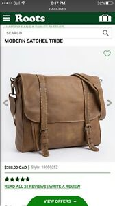 New Without Tags Roots Leather Satchel Bag