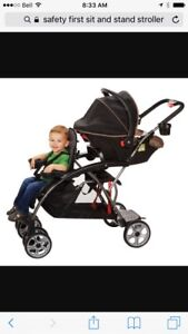 Double stroller sit and stand safety first brand