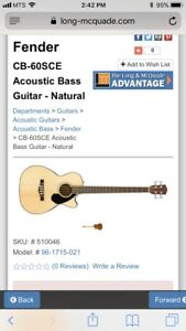 Looking for a fender cb-60sce acoustic bass