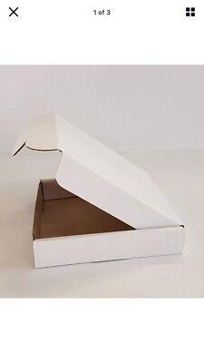 RMail WHITE-Mini Jewellery Size Box Large Letter PIP Strong Postal Box-10x10x2cm