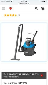 Mastervac wet / dry shop vac --- 19L , 5HP, never used.