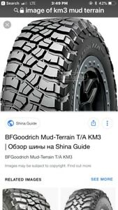New 305 55 20 KO2 BF Goodrich Tire