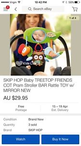 Skip hop treetop friends baby pram toy new Lindisfarne Clarence Area Preview