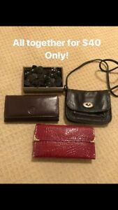 All the wallets,Fossil bag and small clutch together for $35!