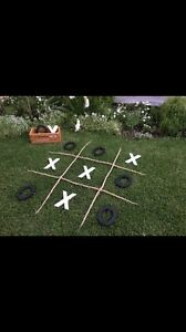 Tic Tac Toe lawn game with wooden crate Morphett Vale Morphett Vale Area Preview