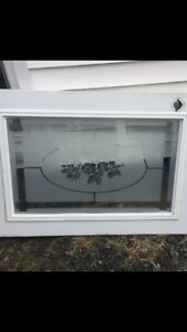 Glass window insert for door