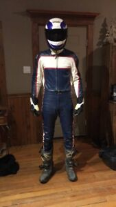 Custom Leather Motorcycle Race Suit