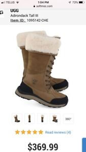 Ugg woman's adarondack tall winter boots size. 7