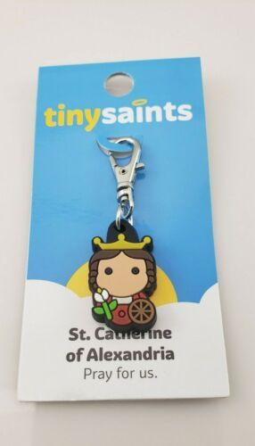 Tiny Saints - St Catherine of Alexandria Pray for Us Charm w/ Lobster Clasp NEW