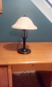 Two identical table lamps