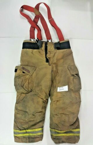 Globe Gxtreme 38x30 Brown Firefighter Turnout Bunker Pants with Suspenders P0158