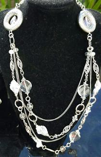 Handmade Unique Silver Necklace, Bracelet and Earrings Set
