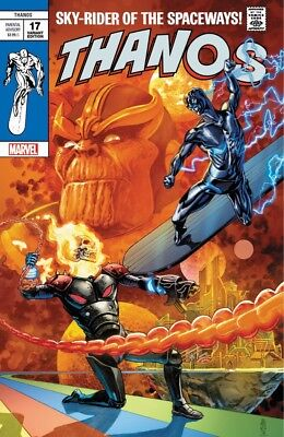 Thanos 17 Marvel JG Jones Silver Surfer 4 Homage Variant Cosmic Ghost Rider