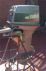 """Yamaha 40hp 2-stroke outboard, 20"""", Tiller Steer Willetton Canning Area Preview"""